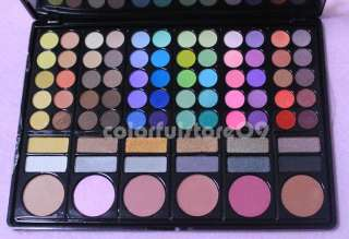 78 Piece Professional Eye Shadow and Blush Palette 1#
