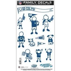 Indianapolis Colts Medium 12 pc NFL Family Vinyl Decals