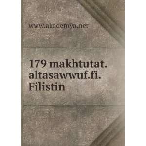 179 makhtutat.altasawwuf.fi.Filistin www.akademya.net