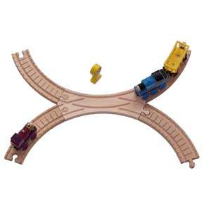 New Wooden Figure 8 Track Set Cross Thomas Train Brio