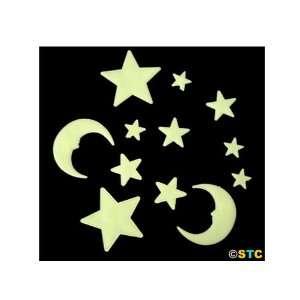 com Glow In The Dark Moon & Stars (Style C) ~ Glow In The Dark Items
