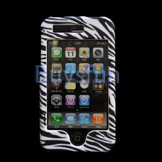 10x BLACK Zebra Hard Case Cover For Apple iPhone 3G 3GS