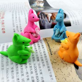 ONE Kangaroo Pencil Eraser,Animal,Kids,Party Favor Supply Bag Prize