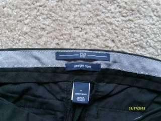 Womens 6 x 32.5 GAP Straight Flare Trouser Black Stretch Dress Pants