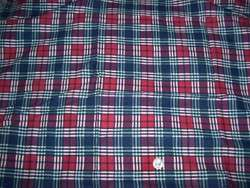 Full Vintage Feedsack Red, Blue & Green Plaid