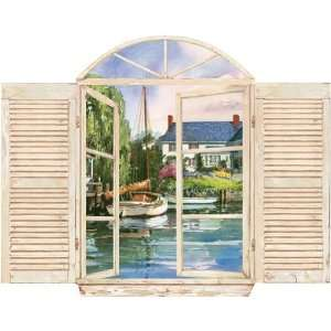 Langdon Yard Window Wall Decal