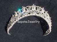Pearl Tiara Bridal Crown Sparkling Swarovski Crystals Pageants