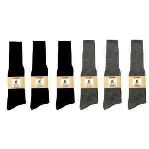 Alpaca Classic Socks   6 Pairs Large   Black & Gray