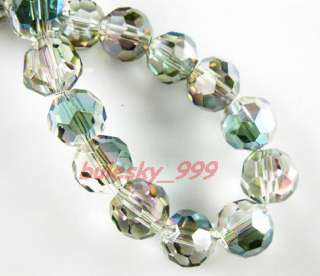 P18 Glass Crystal 32Facet Round Bead 8mm Colorized