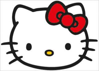 Hello Kitty #1 Vinyl Decal Sticker Laminated 12.5 x 9.5 LARGE