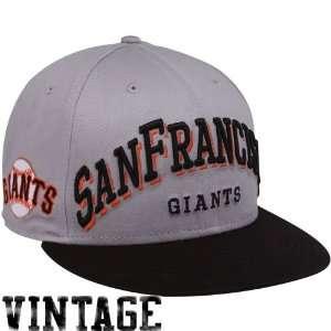 San Francisco Giants Gray Black Mark 9FIFTY Snapback Adjustable Hat