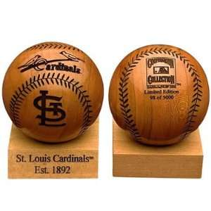 Grid Works St. Louis Cardinals Engraved Wood Baseball