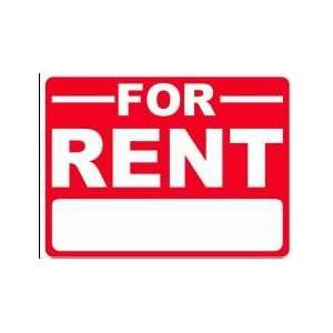 FOR RENT 18x24 Heavy Duty Plastic Sign