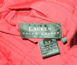 womens RALPH LAUREN P/P Ski Vest Reversible Jacket Fleece Puff petite