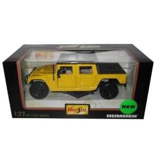 Hummer SUT Yellow 127 Diecast Model Car Maisto Toys & Games
