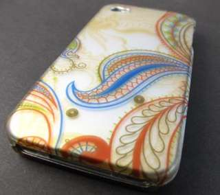 CLASSIC PEACOCK DESIGN HARD SHELL CASE COVER APPLE IPHONE 4 4s PHONE