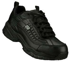 Skechers   Mens Work Soft Stride   Dexter Steel Toe Shoes  NEW