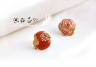 183 Korean Fashion rose and Lucy Earrings