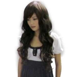 2011 New Fashion Long DARK BROWN Wig Hair Curl Wigs full