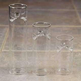 Set 3 Cylinder Floating Tea Light Candle Holder Wedding