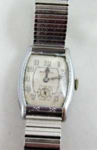 BULOVA MECHANICAL MENS WATCH SWISS 15 JEWEL WORKING HINGE BACK