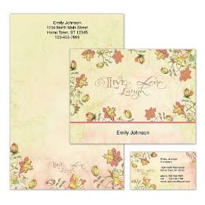 Live, Laugh, Love, Learn Personalized Stationery