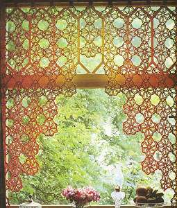 Crochet Flower Window Valance Pattern : Cafe Curtains Filet Crochet Pattern and Afghan Butterflies ...