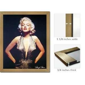 Gold Framed Marilyn Monroe Gold Dress Classic Poster