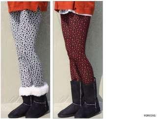 NEW Women Wool Blend Multi Nordic Patterns Thermal Knit leggings Pants
