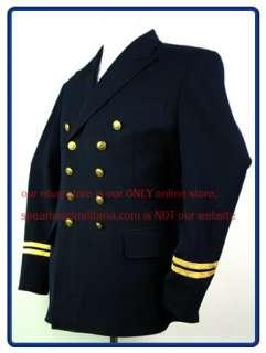 WW2 German Kriegsmarine Officer/NCO Double breasted Reefer Jacket S XL