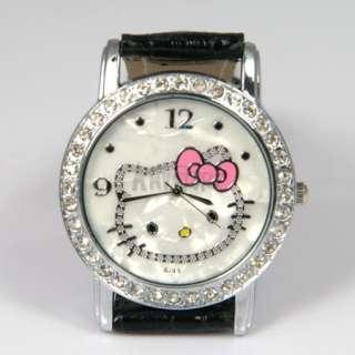 Crystal Hellokitty Girls Kid Quartz Wrist Watch Party Gift