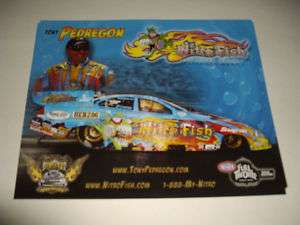 2011 TONY PEDREGON NITRO FISH FUNNY CAR NHRA POSTCARD