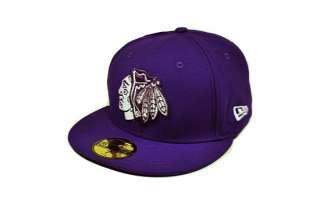 NEW ERA 59FIFTY FITTED HAT CAP CHICAGO BLACKHAWKS NHL HOCKEY DEEP