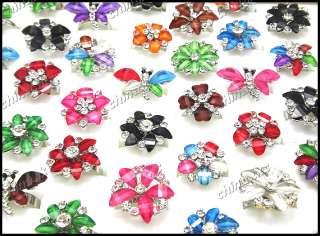 Wholesale jewelry lot Mix style 10pcs colored Crystal Rhinestones