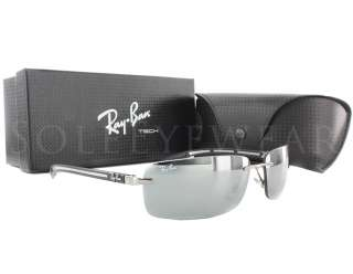 NEW Rayban RB 8304 004/6g Black Frame / Grey Silver Mirror Tech
