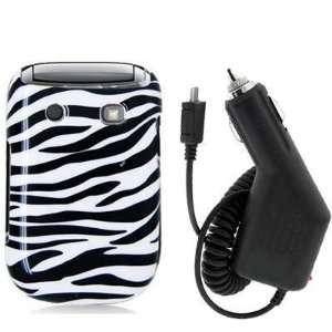 Black / White Zebra Design Crystal Hard Skin Case Cover
