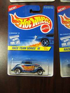 Hot Wheels Race Team Series III #1 4 Complet Set MOC