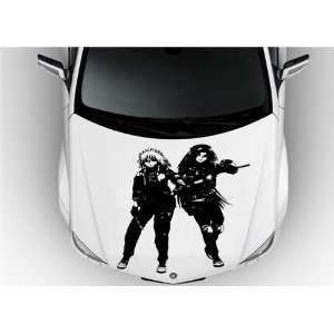 Anime Car Vinyl Graphics Girl with Guns S6875: Home & Kitchen