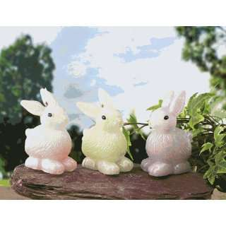 Biedermann & Sons C490 Assorted Pastel Bunny Candles