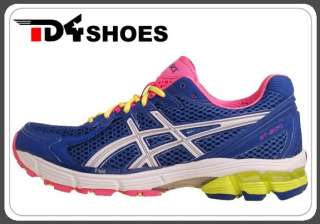 Asics GT 2170 Blue White Neon Pink Green New Womens Top Running Shoes