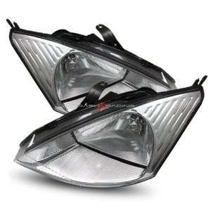 00 04 Ford Focus Chrome Crystal Housing Headlights