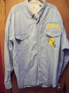 HAND PAINTED GREEN BAY PACKERS JEAN SHIRT, PLUS SZ 2X