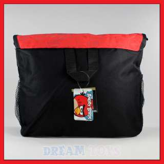 Red Bird and Green Pig Messenger Bag   School Backpack Shoulder