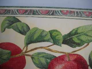 RED & GREEN APPLES WALLPAPER BORDER SCULPTURED DIE CUT