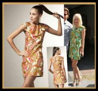 Milly Paisley Print Silk Shift Dress 6 S UK 10 NWT