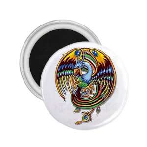 NEW Tattoo Bird Peacock Fridge Souvenir Magnet 2.25 Free