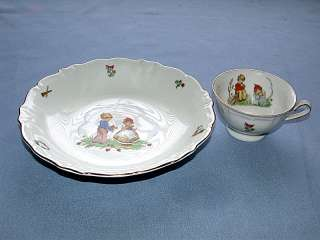Bavaria Germany Childs Porcelain China Bowl & Cup
