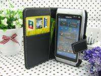 Leather Case Cover Pouch Skin + Screen Protector For Nokia N8 N8 00