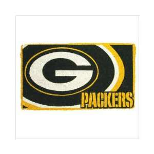 30 NFL Green Bay Packers Natural Coir Fiber Welcome Mat
