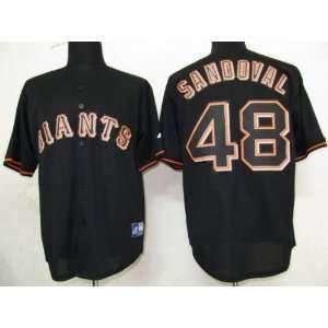 2012 San Francisco Giants 48 Sandoval Black Jersey